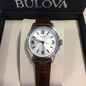 Women's Quartz Silver-tone Dial Brown Leather